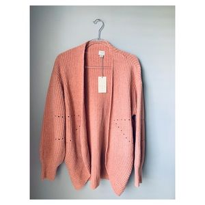 a new day chenille blush pink cocoon cardigan S